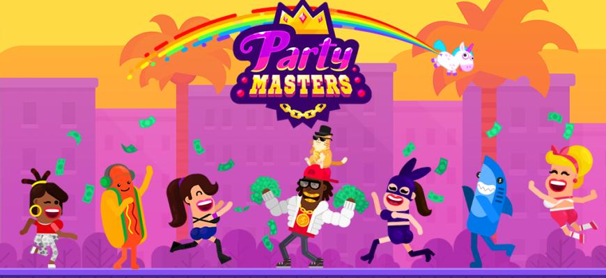 Partymasters - веселый кликер