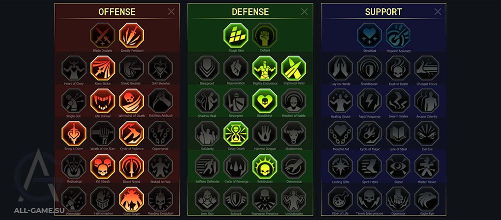 разен таланты компания арена войны фракций подземелья